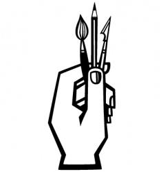 artists hand vector image