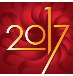 Happy new year 2017 card for your design vector