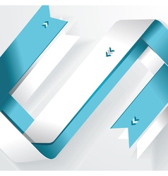 Modern Design template Cutout lines vector image