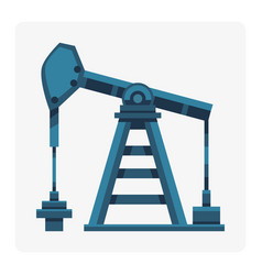 Oil industry production station extracting cartoon vector