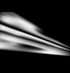 White smooth abstract stripes on black background vector