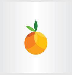 Orange citrus fruit geometric icon vector