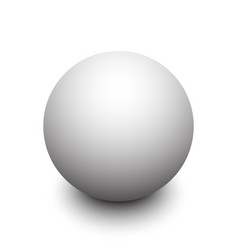 3d white sphere with shadow vector image vector image