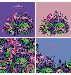 Fancy flowers vector