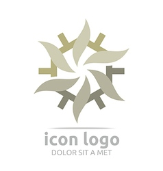Logo icon trapeziodal shape design symbol abstract vector