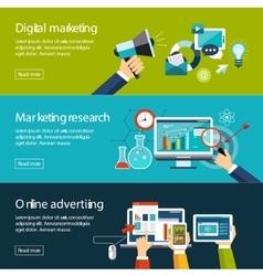 Management digital marketing srartup planning vector