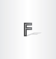 Black letter f logo element vector