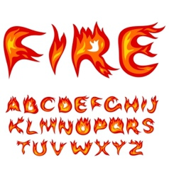 Flame alphabet vector