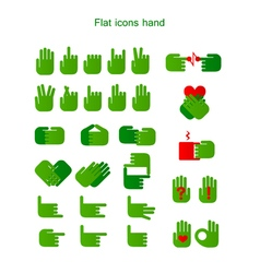 Flat icons hand vector