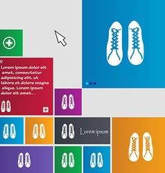 Shoes icon sign buttons modern interface website vector
