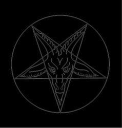 The sigil of baphomet vector