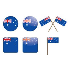 Badges with flag of australia vector