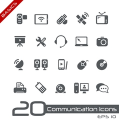 Communications Icons Basics vector image