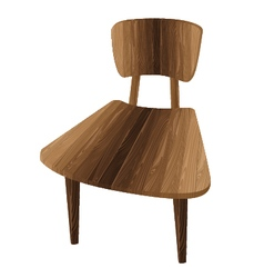 Wooden chair one wooden chair on a white vector