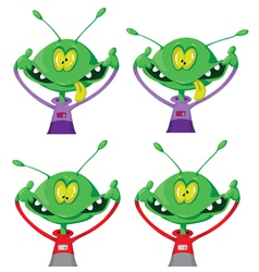 Crazy alien set vector