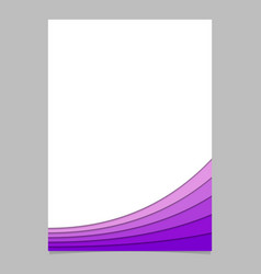 Abstract page template from purple curves - vector