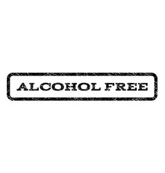 alcohol free watermark stamp vector image vector image