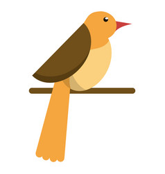 bird dove fauna fly icon vector image