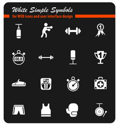 boxing icon set vector image