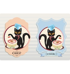 Cat with Cake vector image