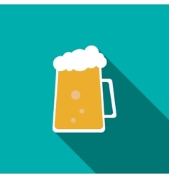Cold beer icon flat style vector image vector image