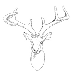 Deer mascot head vector