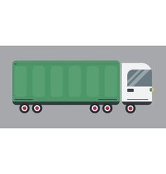 Delivery transport cargo logistic truck vector image vector image