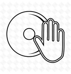dj icon design vector image vector image