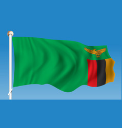 Flag of zambia vector