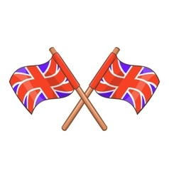Great britain flag icon cartoon style vector