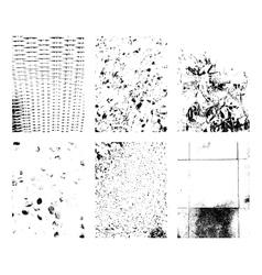 Grunge texture set Set of vector image