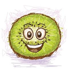 happy kiwi vector image