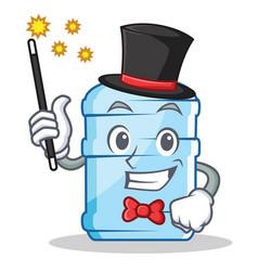 Magician gallon character cartoon style vector