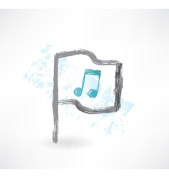 Music flag grunge icon vector image vector image