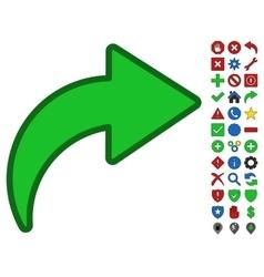 Redo symbol with toolbar icon set vector