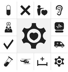 set of 12 editable care icons includes symbols vector image vector image