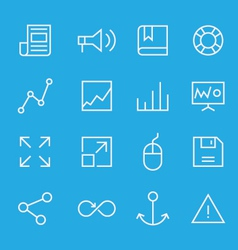 Set of line icons for mobile - web applications vector