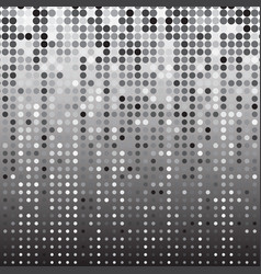 silver dot halftone abstract background vector image