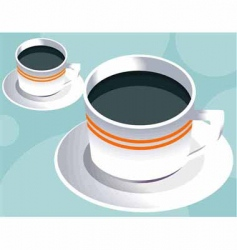 two coffee cup vector image vector image