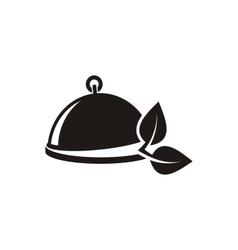 Vegetarian menu emblem vector image vector image