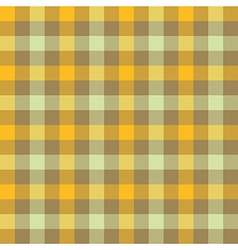 Yellow beige check tablecloth seamless pattern vector image vector image