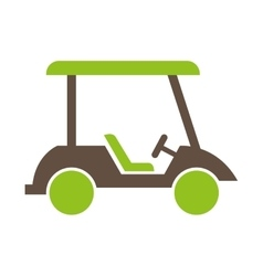 Cart golf isolated icon vector