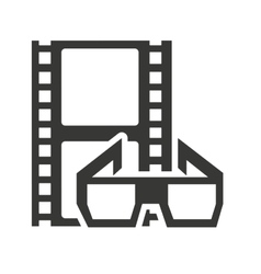 Tape record with cinema icon vector