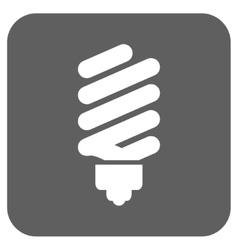 Fluorescent bulb flat squared icon vector