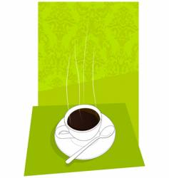 Little cup of italian espresso vector