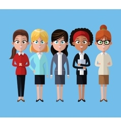 Group women team work business vector