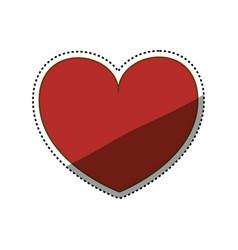 heart love romanticism vector image