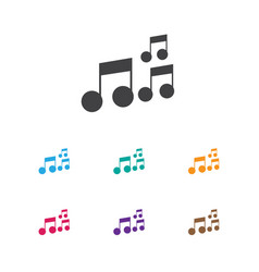 Of melody symbol on sound note vector