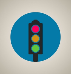 Stop color lights icon vector
