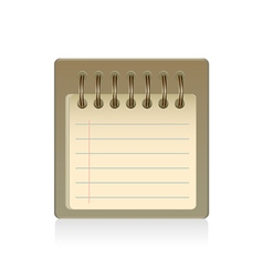 blank notepad isolated vector image